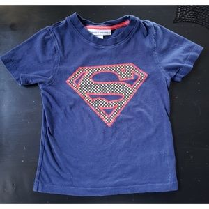 ☀️ GAP JUNKFOOD DC COMICS SUPERMAN CAPE T-SHIRT